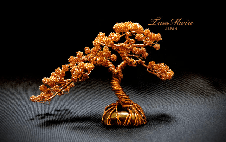 0.3mm以下の純銀金ワイヤーで盆栽を表現 盆栽ワイヤーアート、「TrueMwire」が誕生