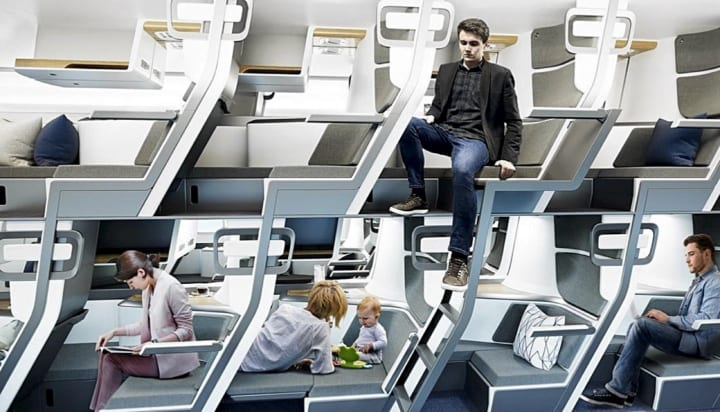 ウィズ・コロナ時代を睨んだ、旅客機のダブルデッカー・シートが登場