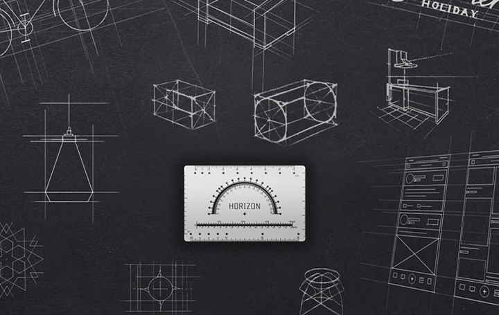 1枚あればデザイン作業がもっと楽になる コンパクトで多機能の定規ツール「Horizon Ruler」が登場