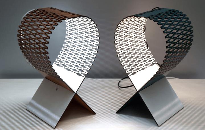 伊プロダクトデザイナーLeonardo Criolaniが設計 カッティング技術を駆使したエレガントなランプ「Lynx」
