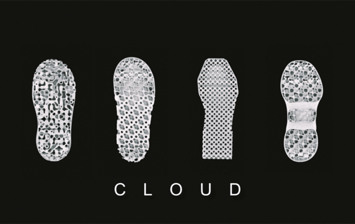 デジタルにおいて製造された雲のような構造をもつ フットウェアブランド「MAGARIMONO」が誕生