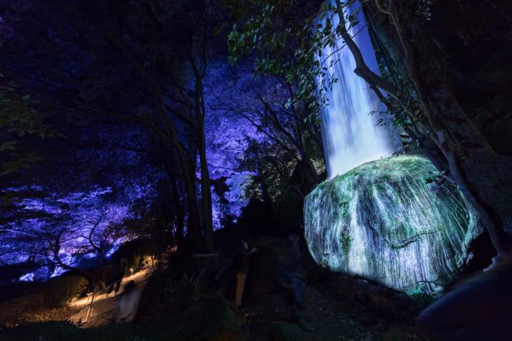 チームラボ、恒例の森の中のアート展「チームラボ かみさまがすまう森」 今年も佐賀・御船山楽園で開催