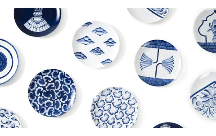 インドの風景や古い建築をパターン化 イタリア人デザイナーによる磁器平皿コレクション「Neel」