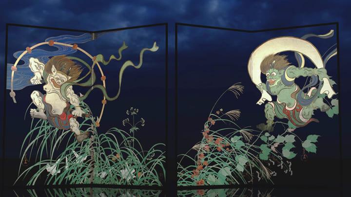 東京国立博物館、VR作品「風神雷神図のウラ -夏秋草図に秘めた想い-」 再上演、実物の展示も開催中
