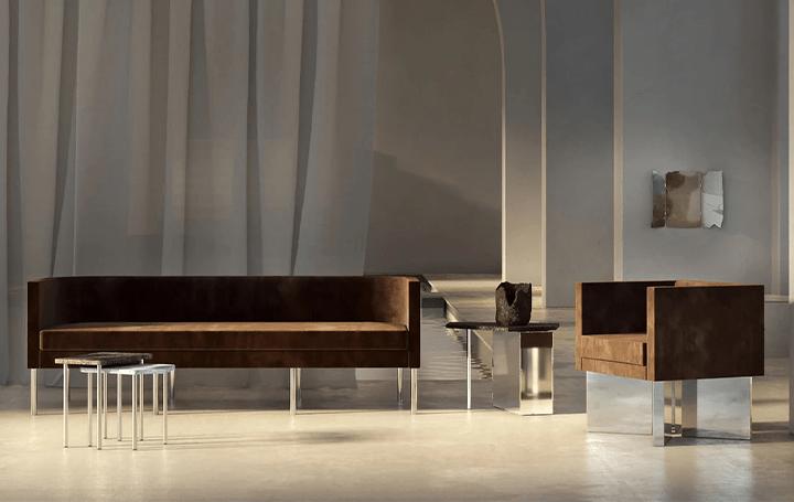 ニューヨークのインテリアブランドTRNK NYCが主催 金属と石を材料とする家具展示「REND」がオンライン公開