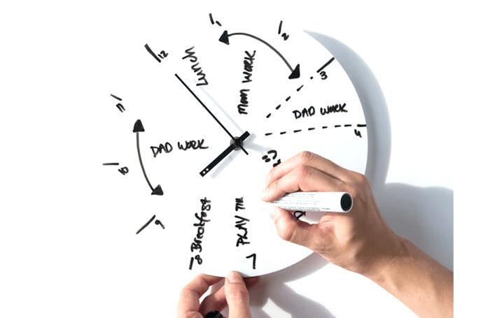 時計に一日の予定を書き込んで時間を管理する ホワイトボード壁掛け時計「TOO-do whiteboard clock」が登場