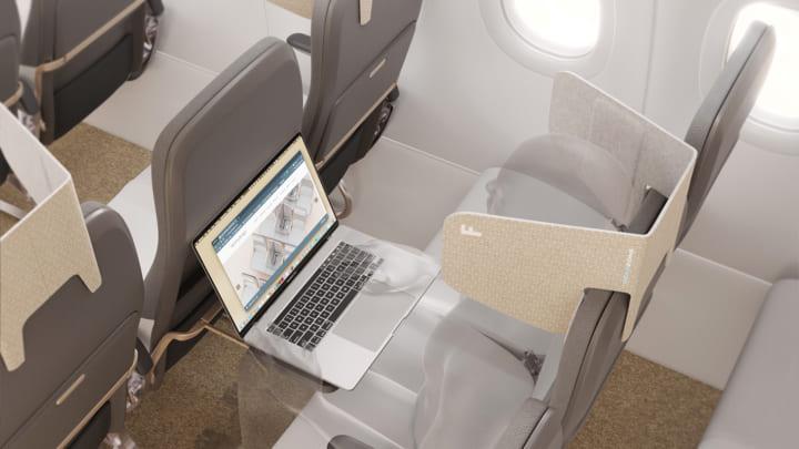 英デザインオフィスfactorydesignによる 座席に装着してプライベートな空間を作り出す「HeadZone©」