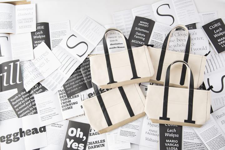 モリサワの書体と日本のモノづくりを融合させた 欧文「Role」からインスパイアされたトートバッグ