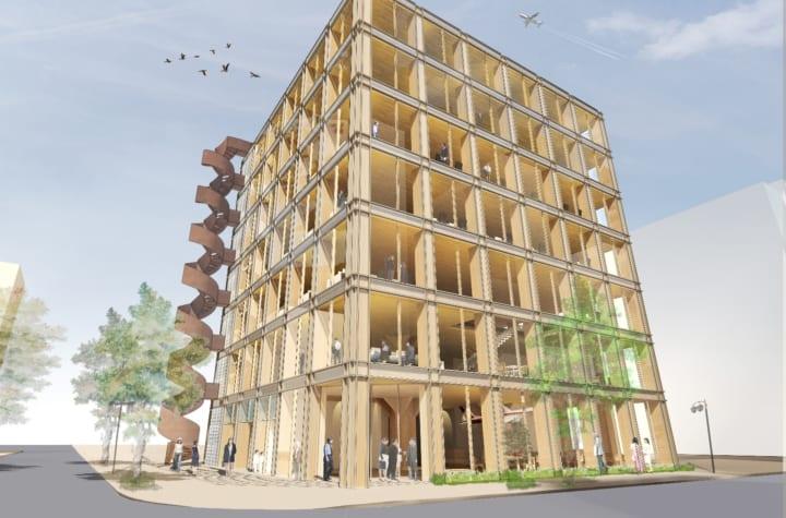 建築家・坂 茂が手がける、木造の材質を最大限に活かす タマディックの新しいオフィスビル