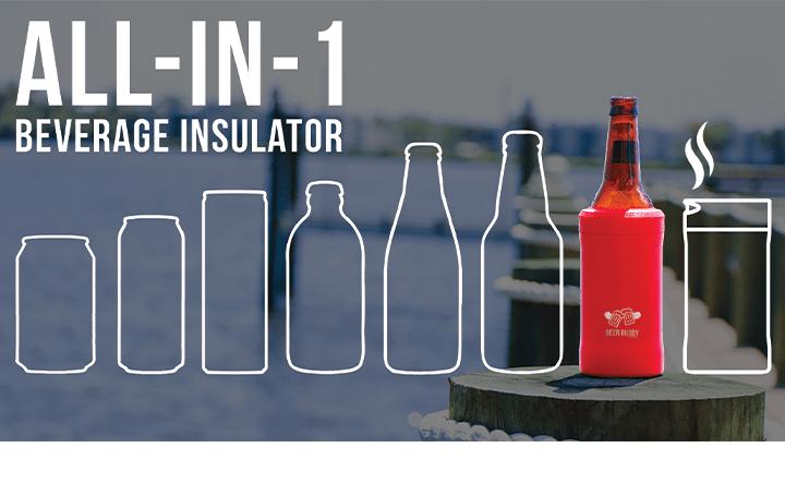 暑い夏でも屋外でビールの冷たさが保つ 異なる容器のサイズにぴったりはまる「Beer Buddy」