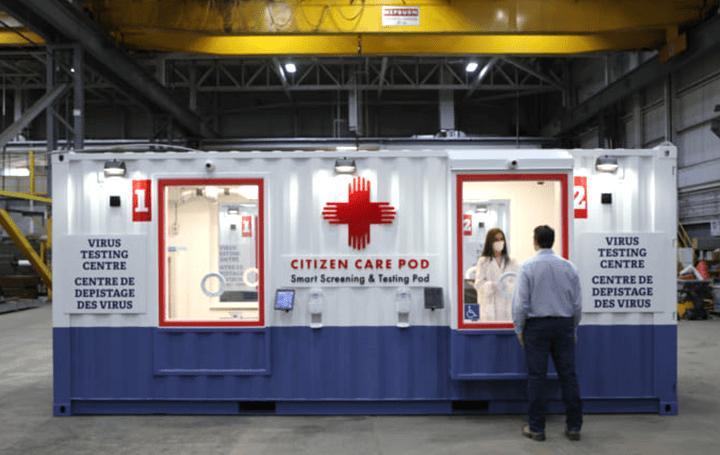 医療従事者の安全な検査環境をサポート カナダ発のスマート検査ポッド「Citizen Care Pod」