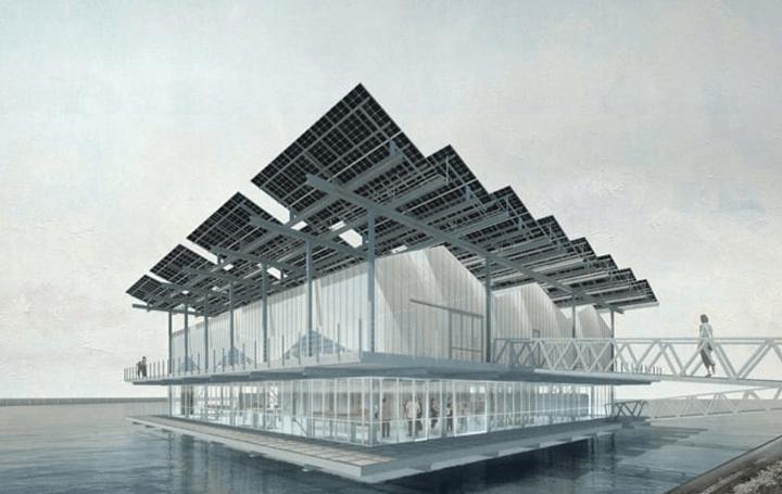 養鶏場と水耕菜園が水上に浮く!? ロッテルダムに循環型「Floating Farm Poultry」のデザインが公開