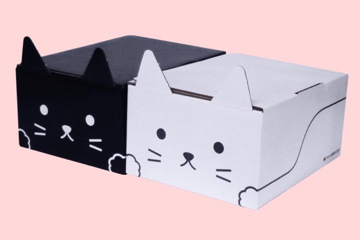 ヤマト包装技術研究所、宅配物を「猫」に変身 新たな宅配ボックス「ネコ耳BOX」