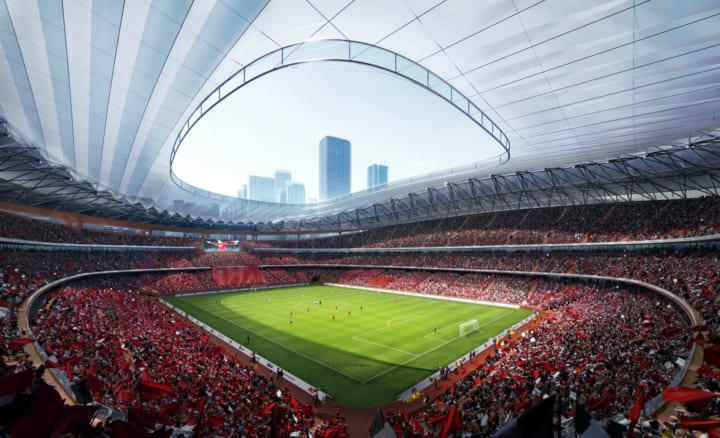 中国で開催する2023年AFCアジアカップ向けに Zaha Hadid Architectsが「Xi'an International Football Cen…