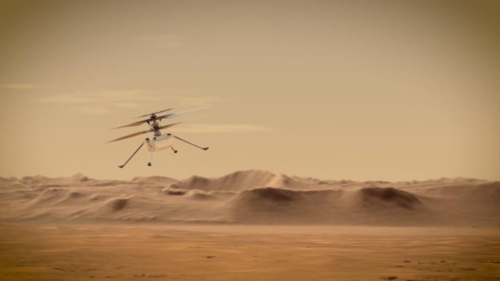 NASA、火星で初の「ヘリコプター」の 動力飛行試験を実施