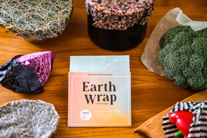 洗って繰り返し使えるエコラップ 日本国内初のヴィーガンフードラップ「Earth Wrap」