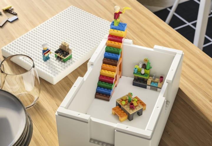 イケアとレゴによる収納ソリューション 子どもの遊び心をかきたてる「BYGGLEK」