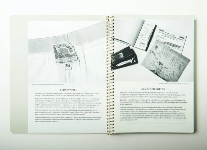 ポスタルコ、創業160年の衣料品メーカーSUNSPELと 共同で「ノートブック フォー・サンスペル」をリリース