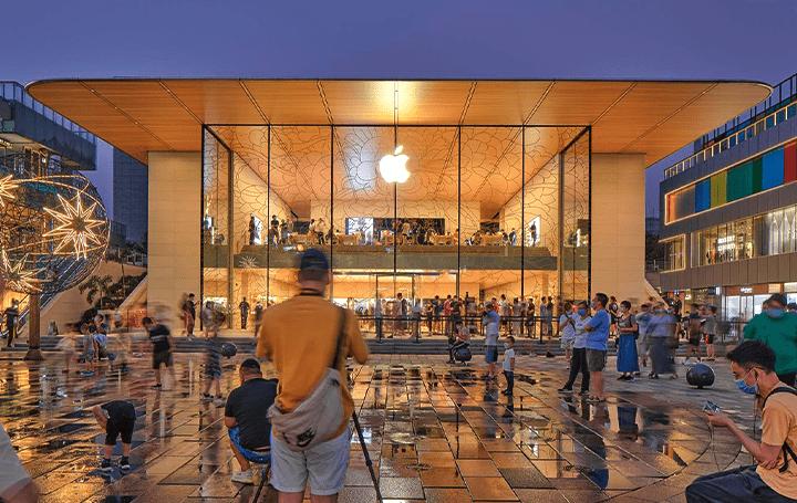 Foster + Partnersが手がけた北京のApple Store 初のトラス構造「Special Truss Moment Frame」を採用