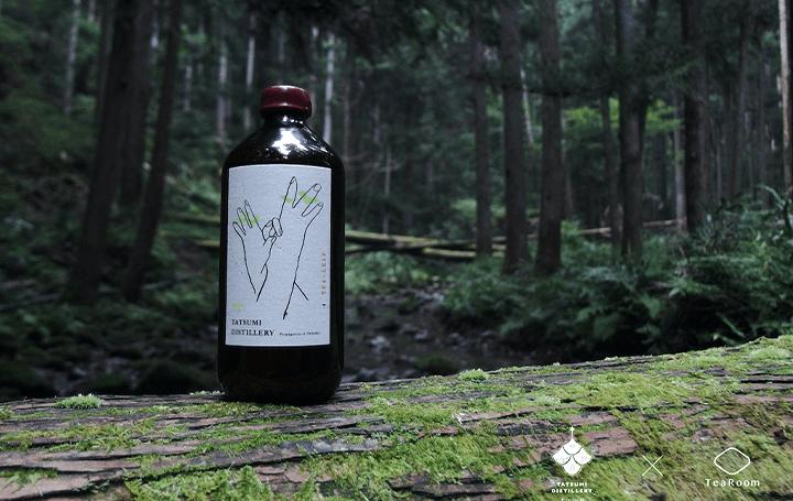 辰巳蒸留所とTeaRoomが共同開発 生葉を使用したクラフトジン「First Essence Tea Leaf Gin」