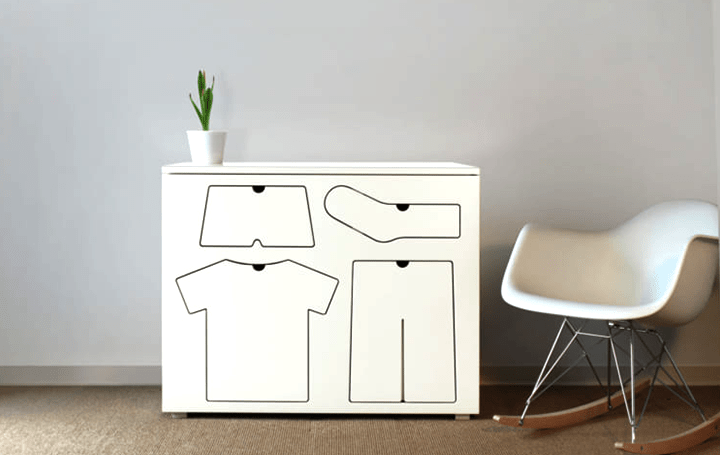 アメリカのプロダクトデザイナーPeter Bristolが設計 子どもに整理する習慣をつけさせる「Training Dresse…