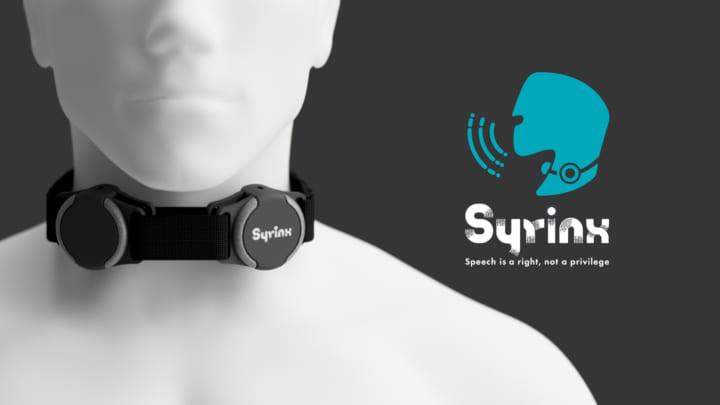 東京大学大学院から、失われた声を取り戻す ウェアラブルデバイス「Syrinx」を開発