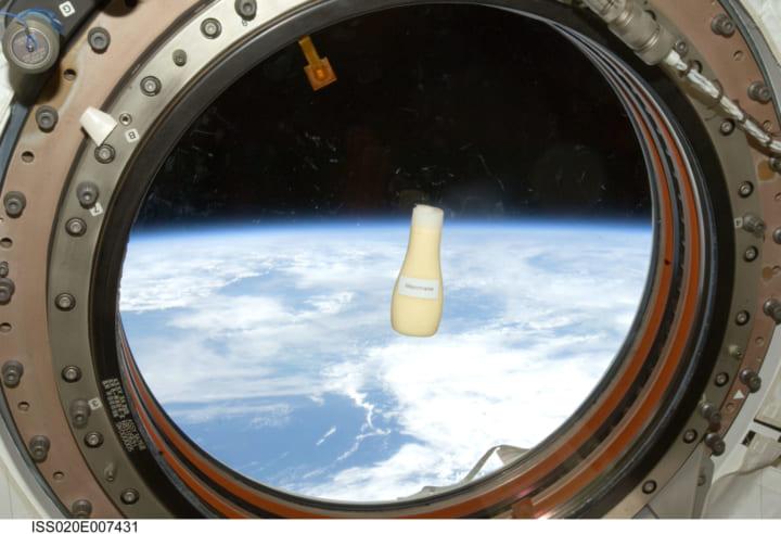 宇宙日本食の「マヨネーズ」が 宇宙飛行士 野口聡一の携行品として宇宙へ