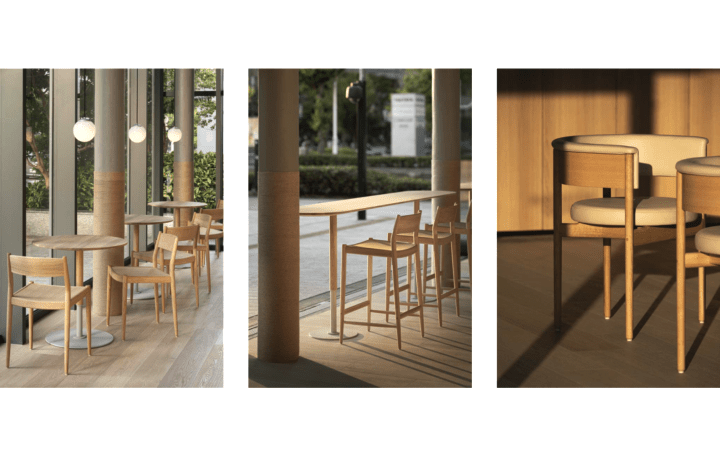 ブルーボトルコーヒー みなとみらいカフェに 「カリモクケーススタディ」デザインのオリジナル家具が登場