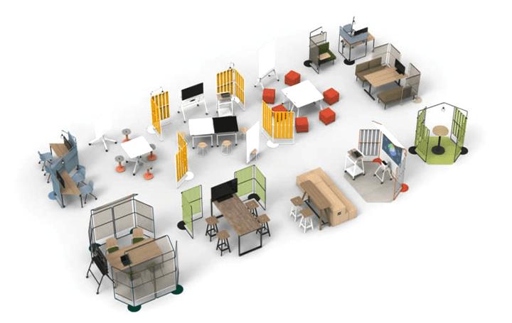 学習プロセスに合わせて学びの場をつくる フレーム家具「OUTLINE」が登場