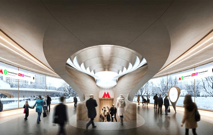 Zaha Hadid Architects、モスクワ地下鉄の新駅 「Klenoviy Boulevard Station 2」をデザイン