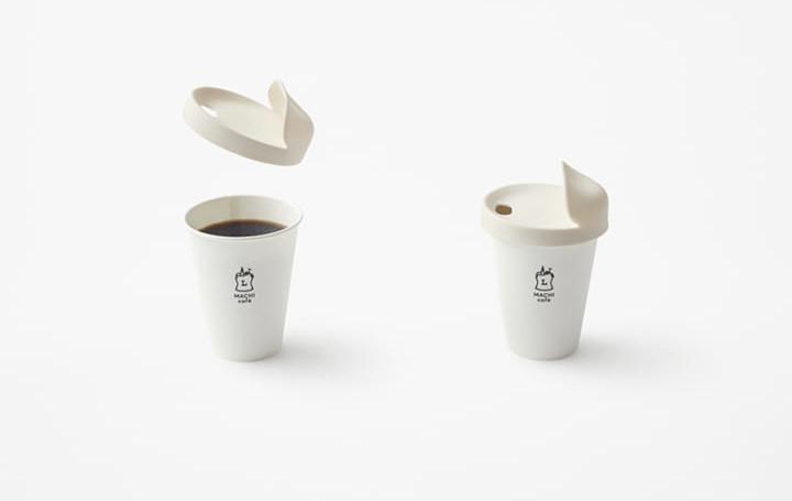 nendoがローソンのためにデザインした 再使用可能なコーヒーカップ専用のフタ「my-lid」