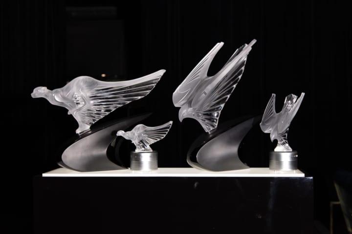 3年に渡って、ラリックとマクラーレンの 「最速の生き物」を象ったオブジェコレクションが完成