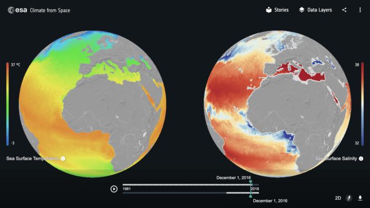 欧州宇宙機関、自宅でも地球の気候変動が学べる 新しいウェブサイト「Climate from Space」を公開
