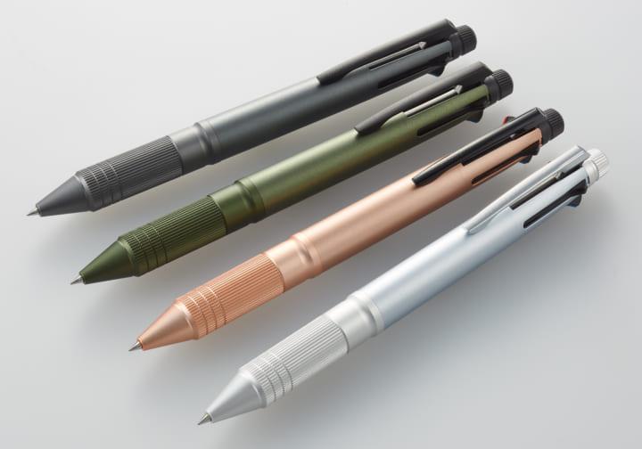 三菱鉛筆、アルミ素材を採用した 「ジェットストリーム 4&1 Metal Edition」をリリース