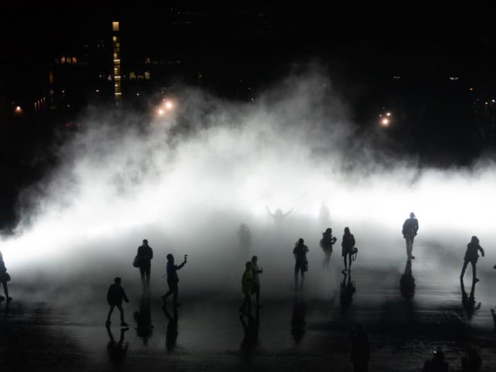 中谷芙二子×高谷史郎によるプロジェクト 「霧の街のクロノトープ」が京都に展示