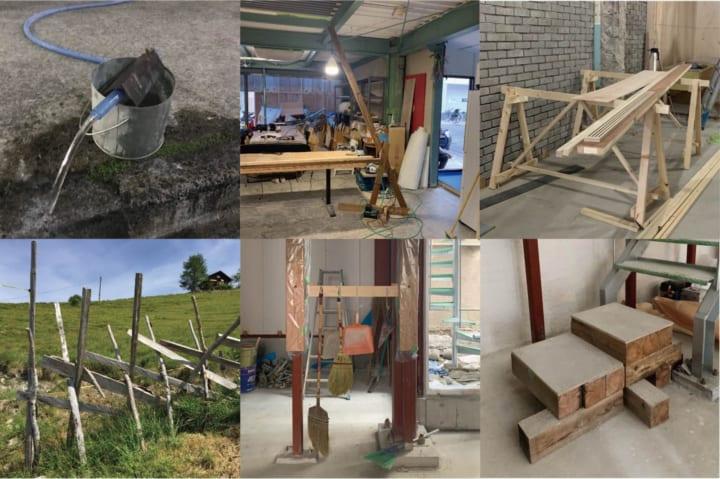 スキーマ建築計画、現場で生まれたミニマルな家具を展示 「まかない家具展」を開催
