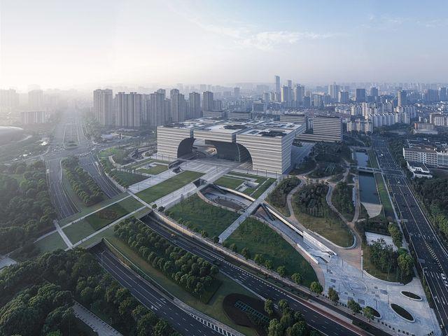 中国・常州の新しいシンボルとなる複合施設 gmpが設計する「Changzhou Culture Plaza」