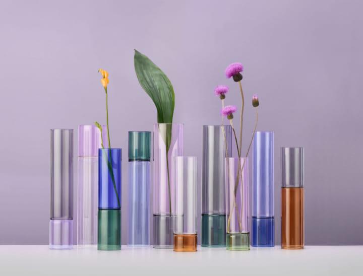 竹林にインスパイアされた イタリアのガラスコレクション「bamboo grove」