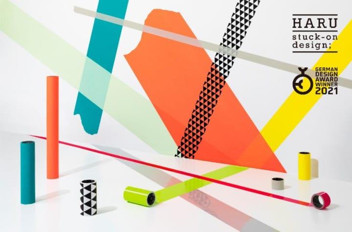 「色を貼る」がコンセプトの貼ってはがせる 空間装飾テープ「HARU stuck-on design;」