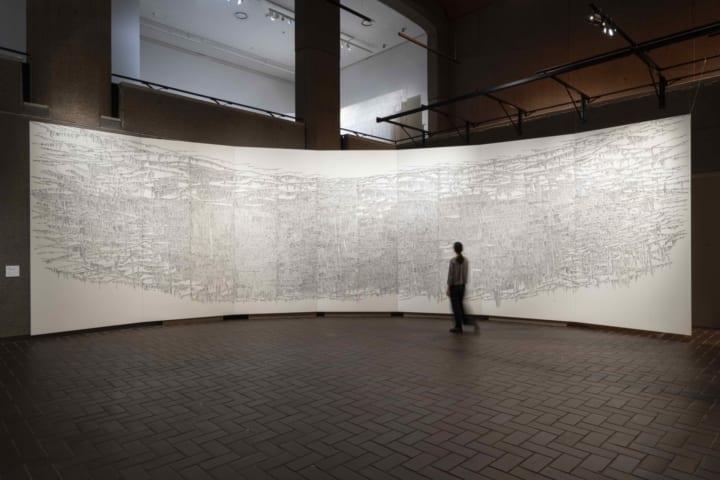 現代書家・千葉蒼玄の大作「3.11鎮魂と復活」 米LACMAに収蔵、 コレクション公式サイトで公開
