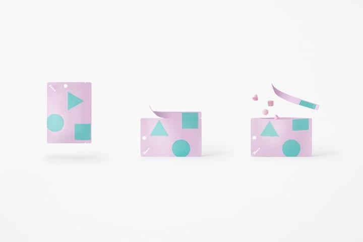 一袋で3つの異なる食感が楽しめる nendoがデザインを手がけた「カンロ 〇△□グミ」