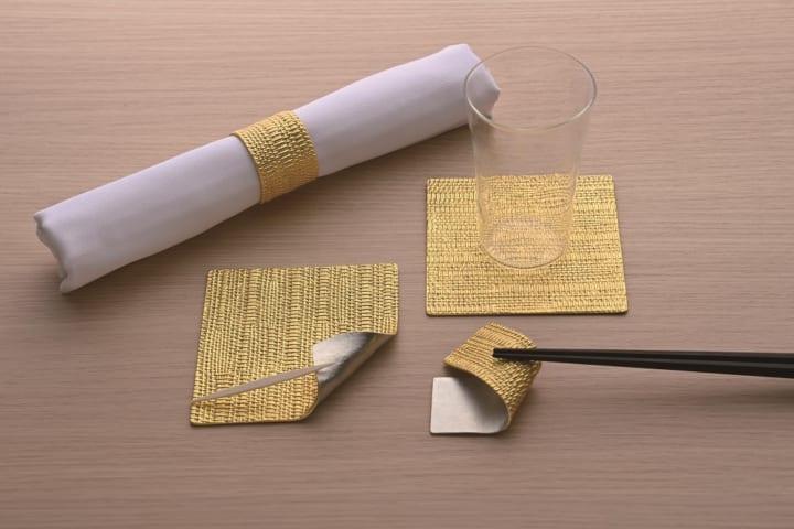 貴金属の老舗 ギンザタナカに 金箔やプラチナ箔を用いたテーブルウェアが登場