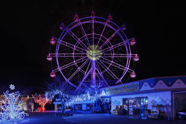 夜の遊園地がメディアアートの美術館に変貌 山口県宇部市の「TOKIWA ファンタジア 2020」