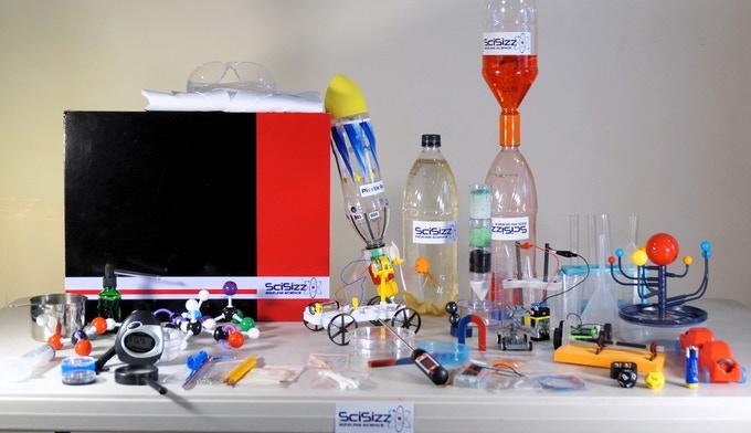 自宅で50種類以上の理科の実験ができる サイエンスキット「Scisizz」