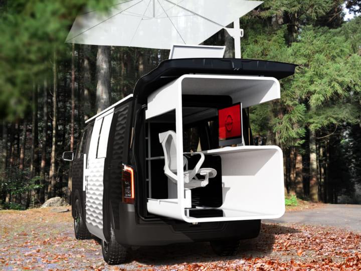 日産、自由な働き方を提案 コンセプトカービジネスバン「NV350キャラバン」公開
