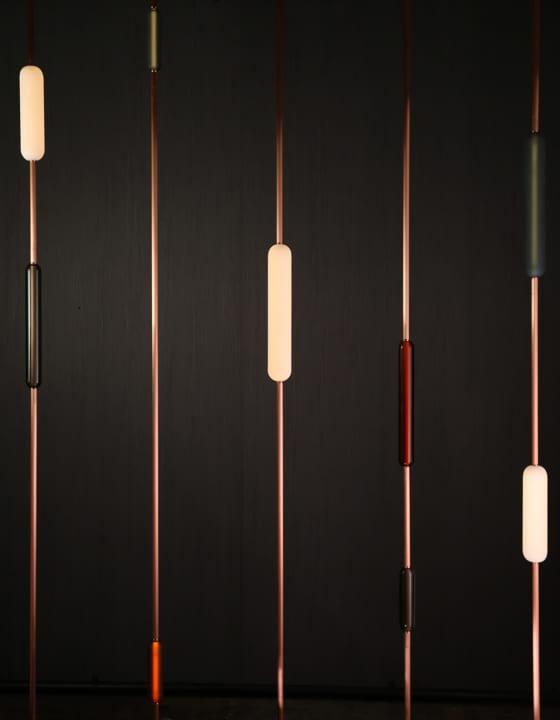 チューブ状で多彩な オーストラリアのガラス照明シリーズ「Flask 1.0」