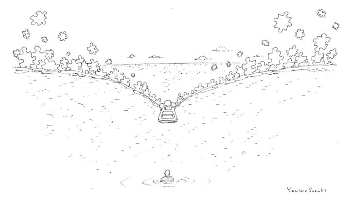 鈴木康広のアートプロジェクト「ファスナーの船」 関連企画「水のパズル」の動画を募集中