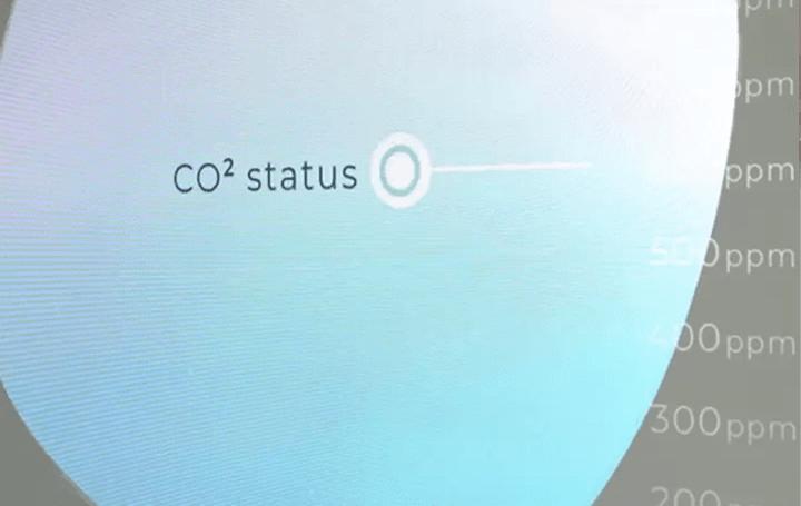 室内の二酸化炭素濃度を可視化 デジタルサイネージ「Ambilens」