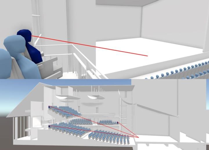 パナソニック、劇場などの舞台の見えやすさを判別できる 設計評価手法「View-esT」を確立