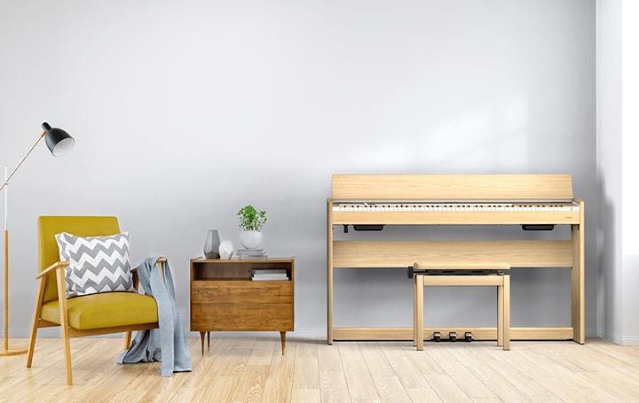 ローランドに、インテリアになじむスタイリッシュな  デジタルピアノ「F701」登場